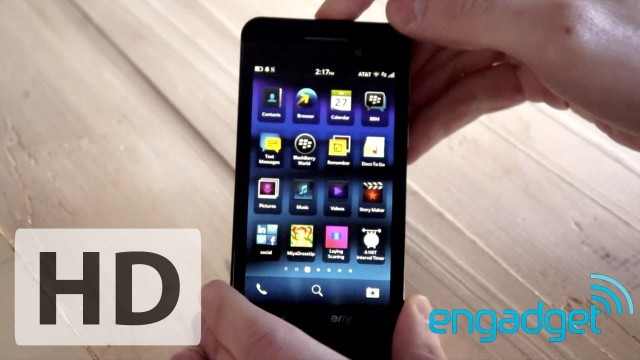 Engadget Hands On BlackBerry Z10 Review 2013