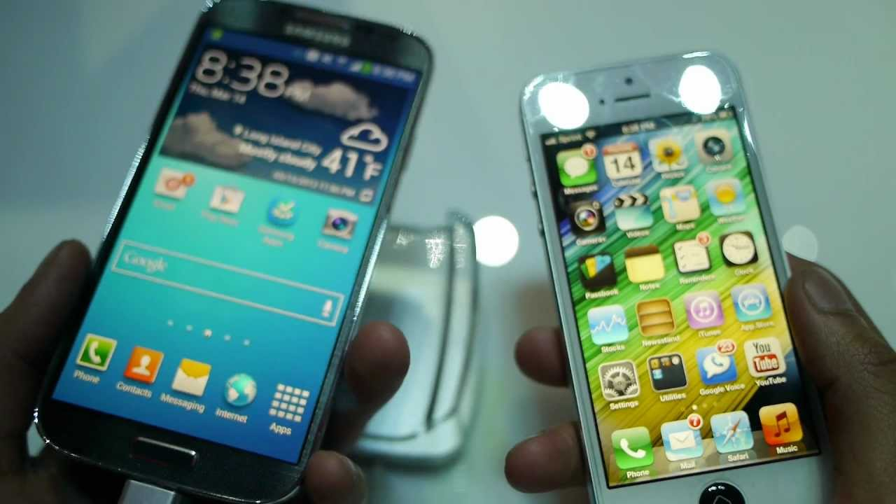 Samsung Galaxy S4 vs Apple iPhone 5 first look