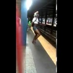 "Gay Dude Dancing ""Wild"" At The Train Station"