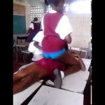 Jamaican High School Girls Dancing With Each Other In Class