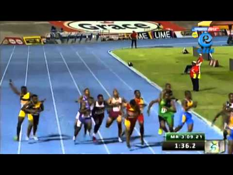 St Jago 3:08.31 wins 4x400m Relay Boys New Record Boys & Girls Champs 2014