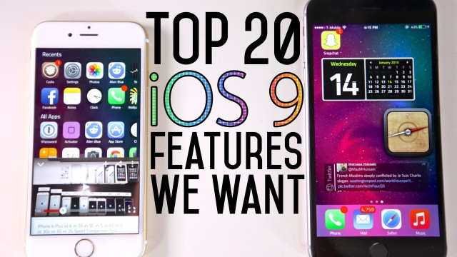 Top 20 iOS 9 Features We Want To See!