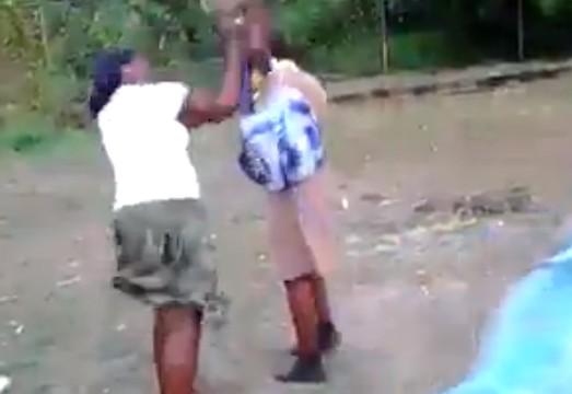 Jamaican Mother Beats Daughter For Fighting In School