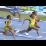 Natalliah Whyte Edges Shauna Helps to win C1 Girls 100m Final Champs 2015