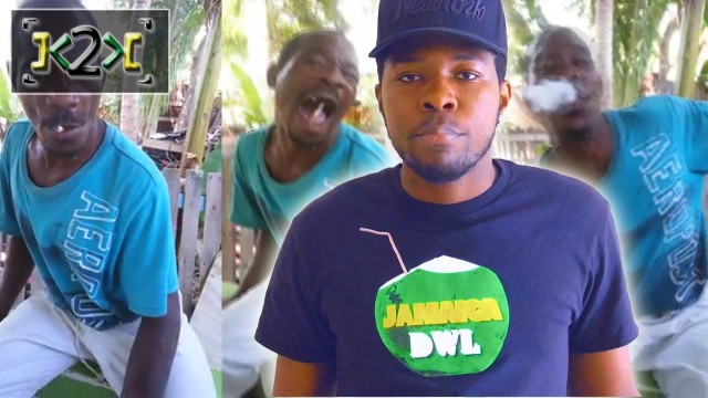Jamaican Man Chews Up Lit Cigarette – @Kevin2wokrayzee