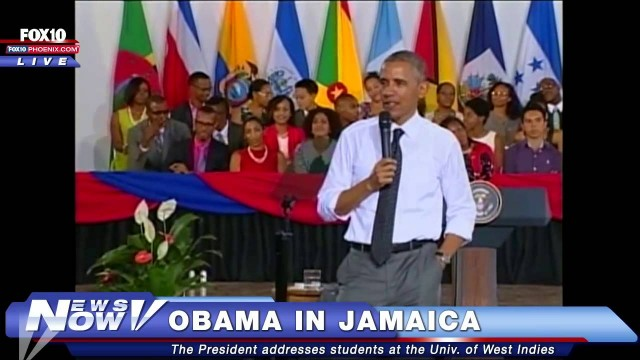 President Obama's speech at The University of the West Indies, in Jamaica. #ObamaInJamaica